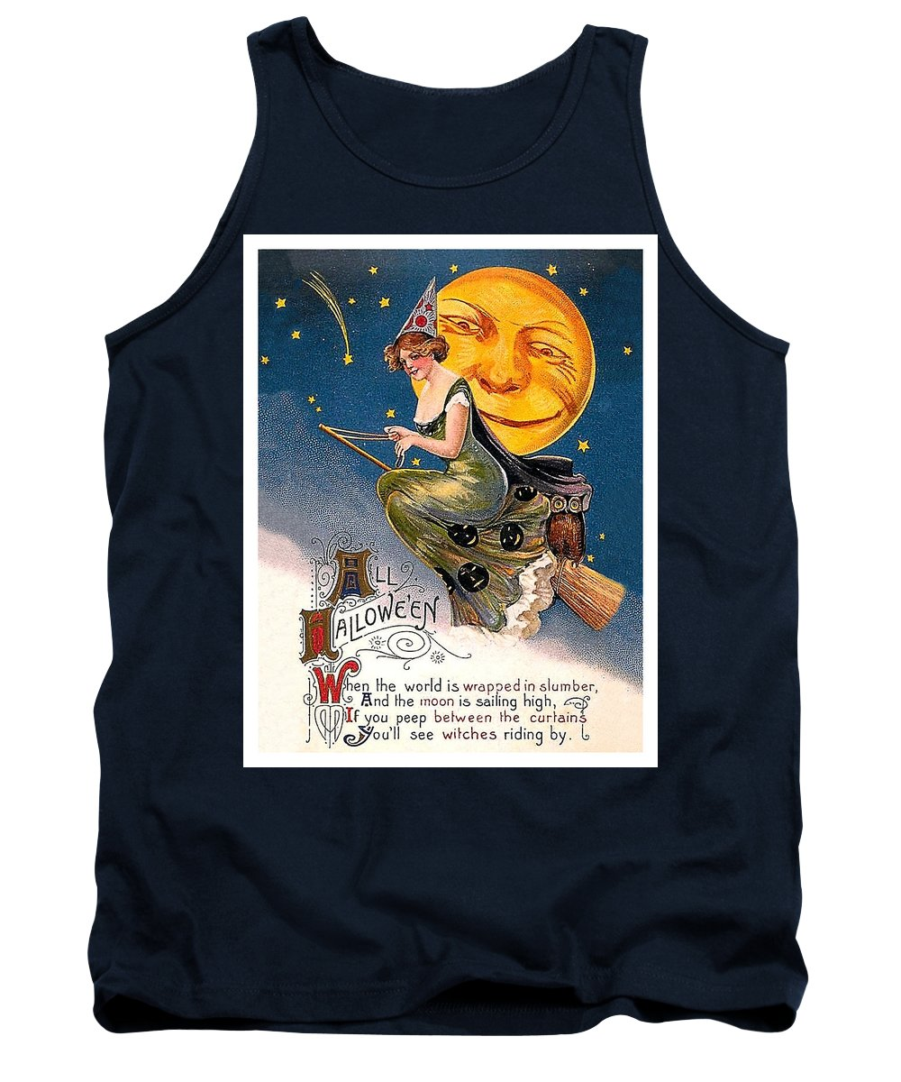 Broom Mixed Media Tank Tops