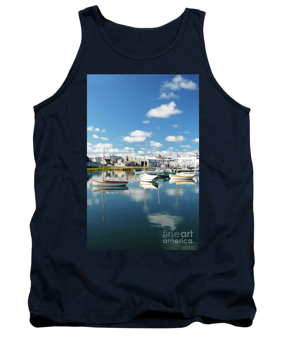 Abstract Tank Top featuring the photograph An Idyllic Boating Day by Sharon Eng