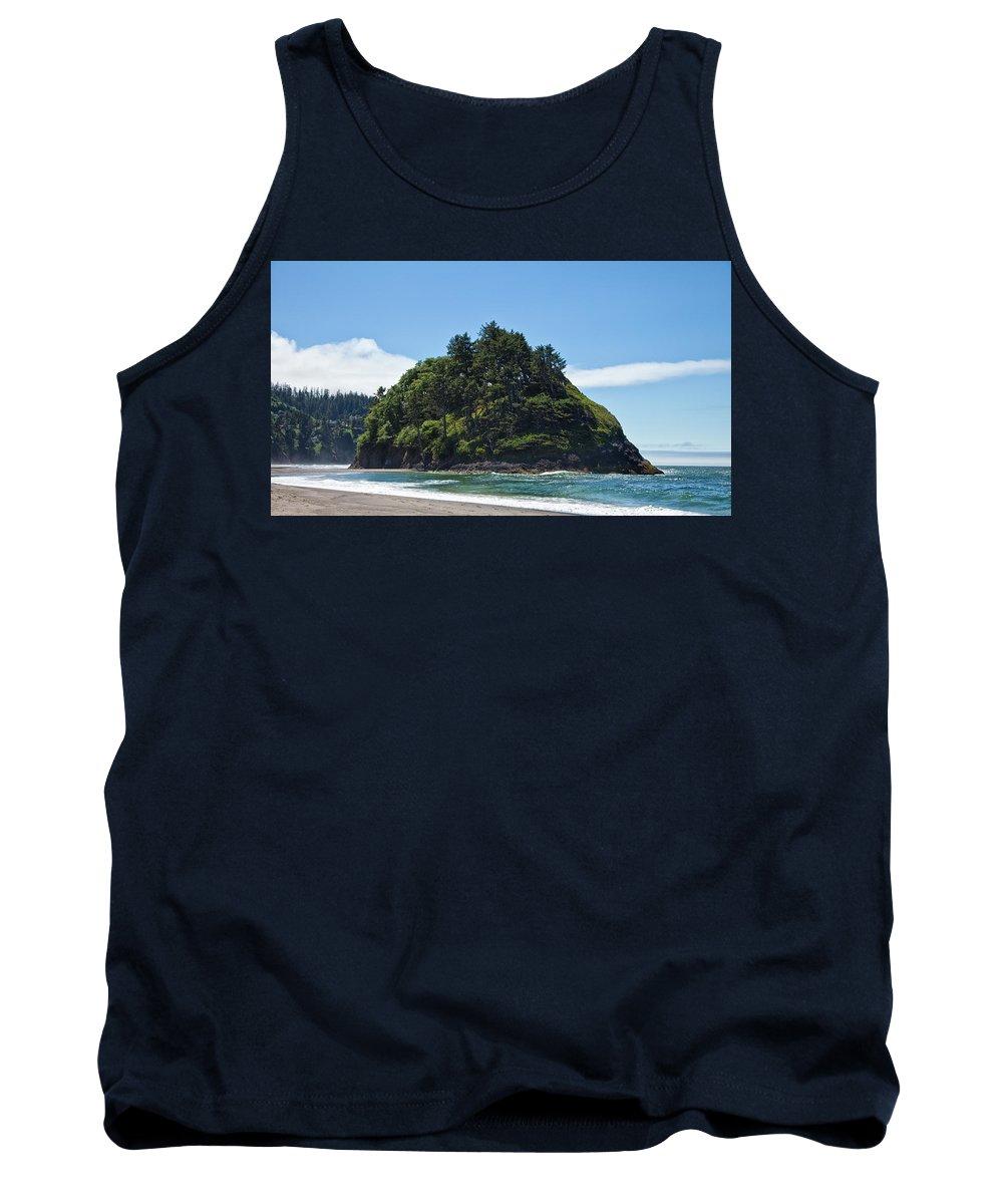 Tree Tank Top featuring the digital art Emerald Isle by Brian Corbett