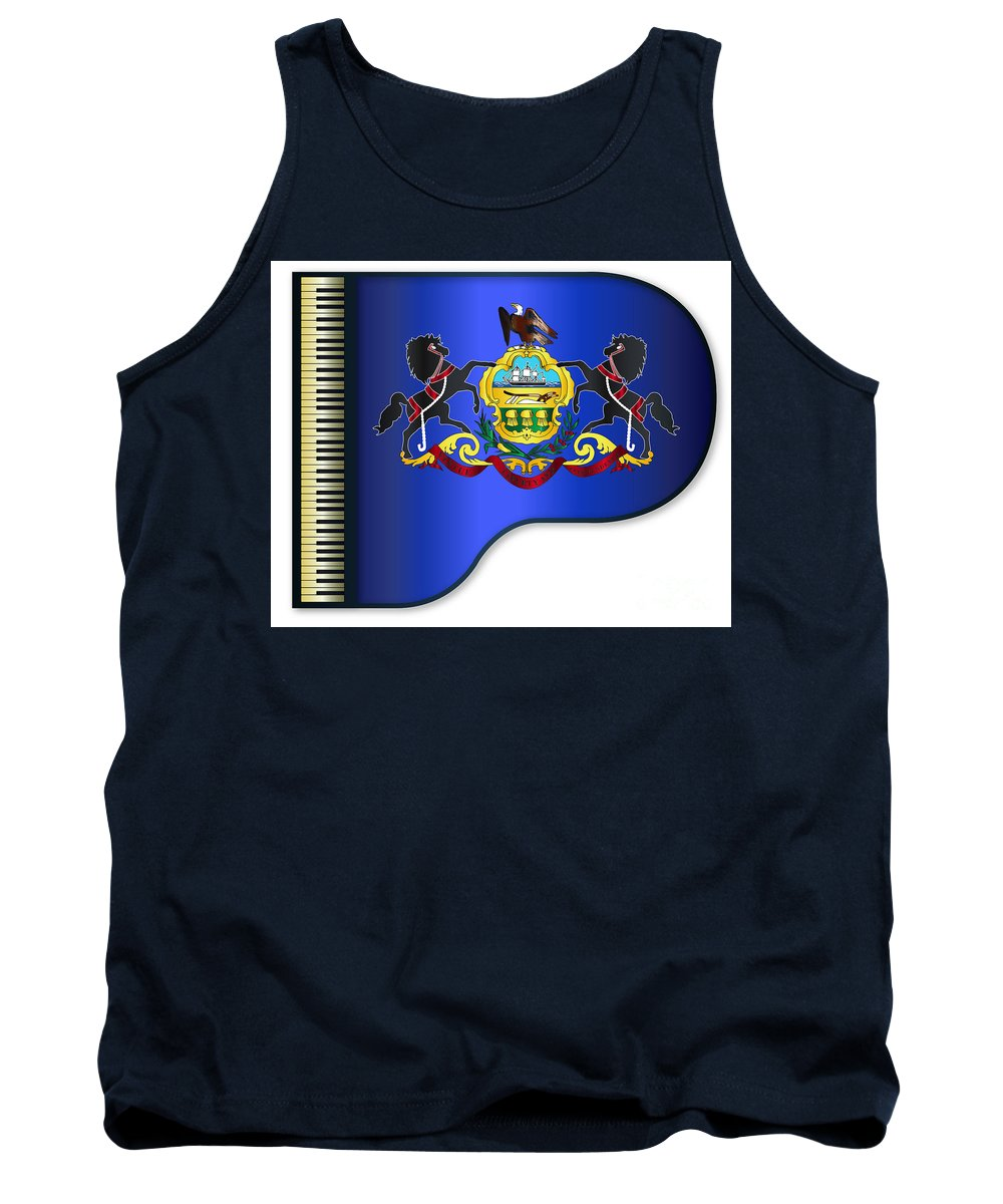 Grand Tank Top featuring the digital art Grand Pennsylvania Flag by Bigalbaloo Stock