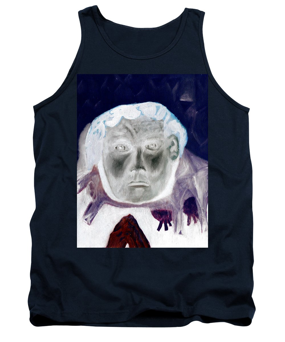 Portrait Tank Top featuring the digital art Man With Purple Udders by Artist Dot