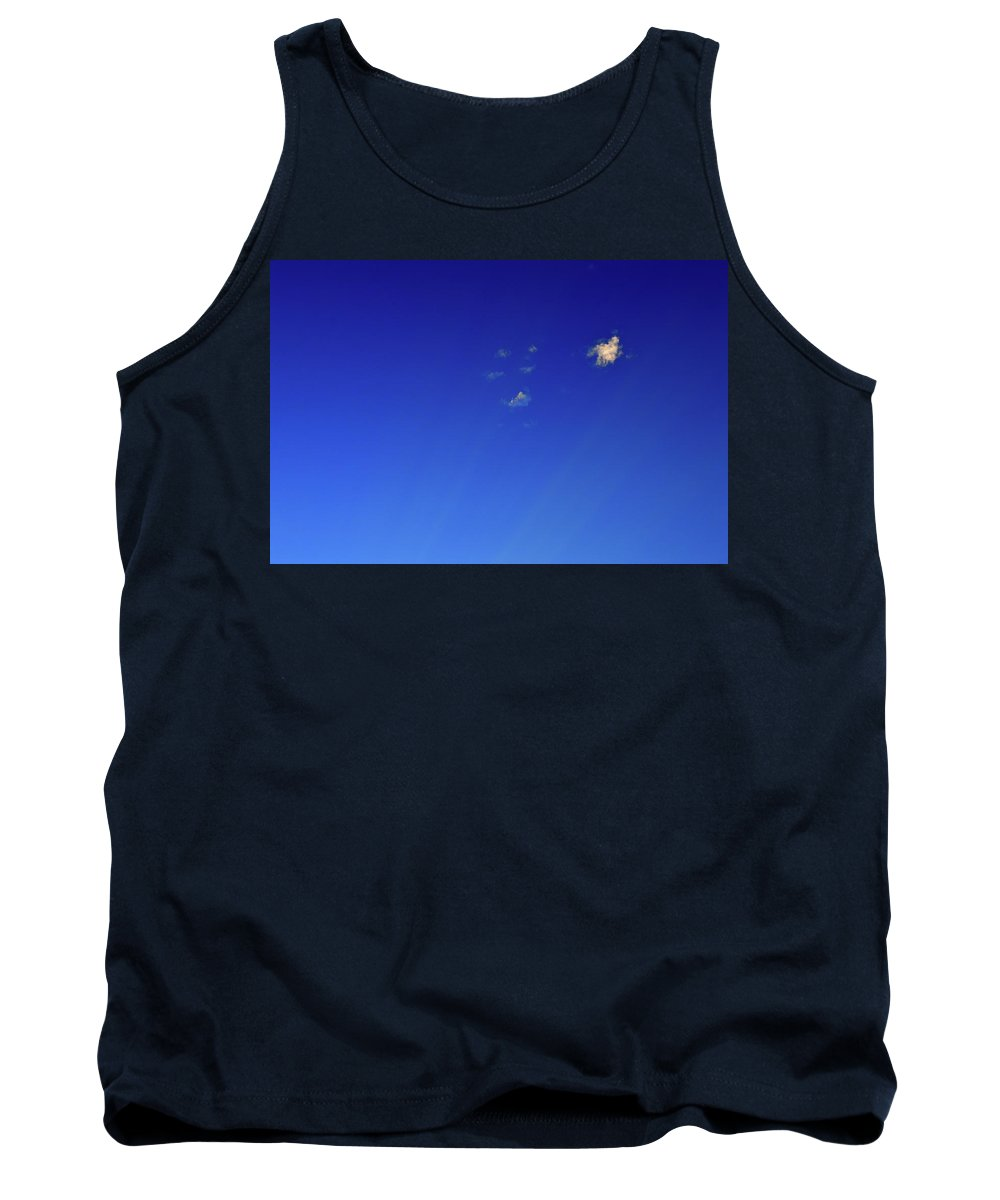 Abstract Tank Top featuring the photograph Micro Clouds And Rays by Lyle Crump