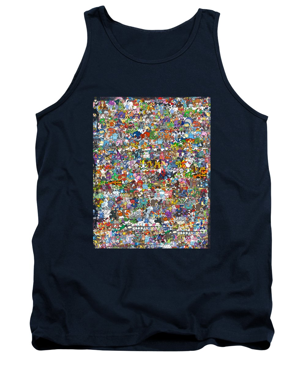 Tank Top featuring the digital art Pokemon by Mark Ashkenazi