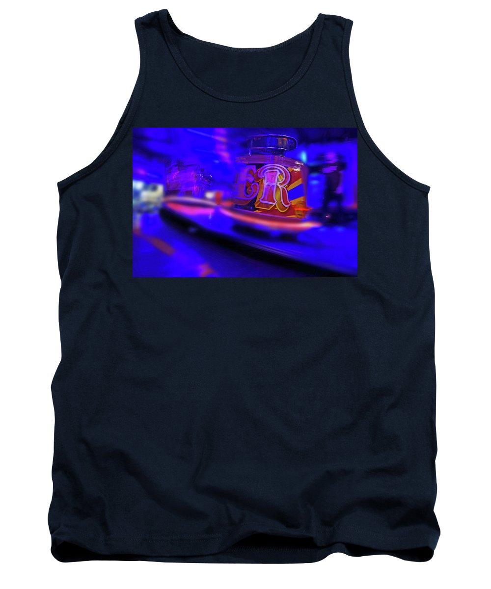 R Tank Top featuring the painting R by Charles Stuart