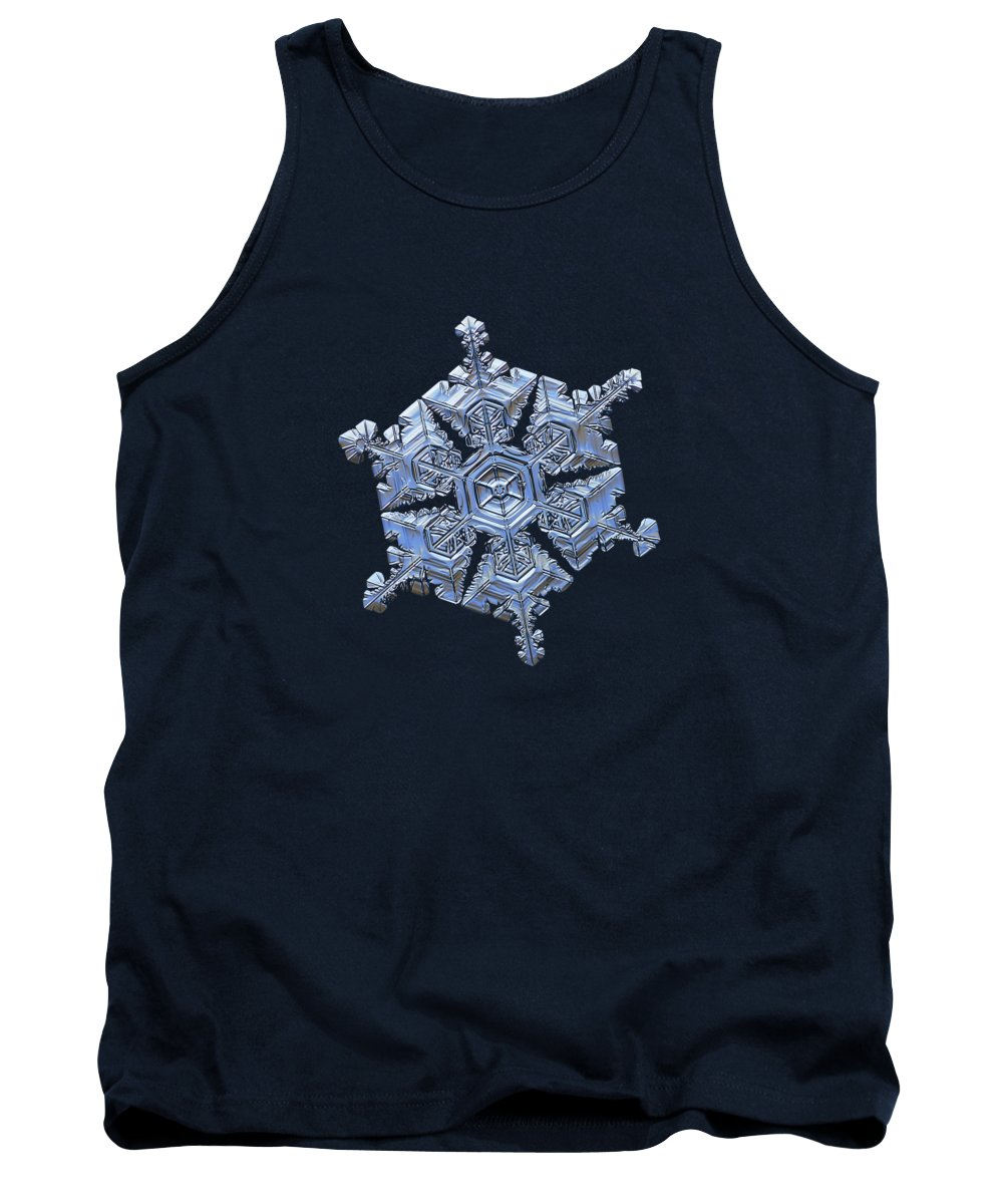 Snowflake Tank Top featuring the photograph Real Snowflake - 05-feb-2018 - 18 by Alexey Kljatov