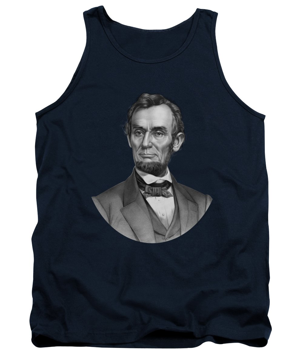 Abraham Lincoln Tank Top featuring the drawing President Lincoln by War Is Hell Store