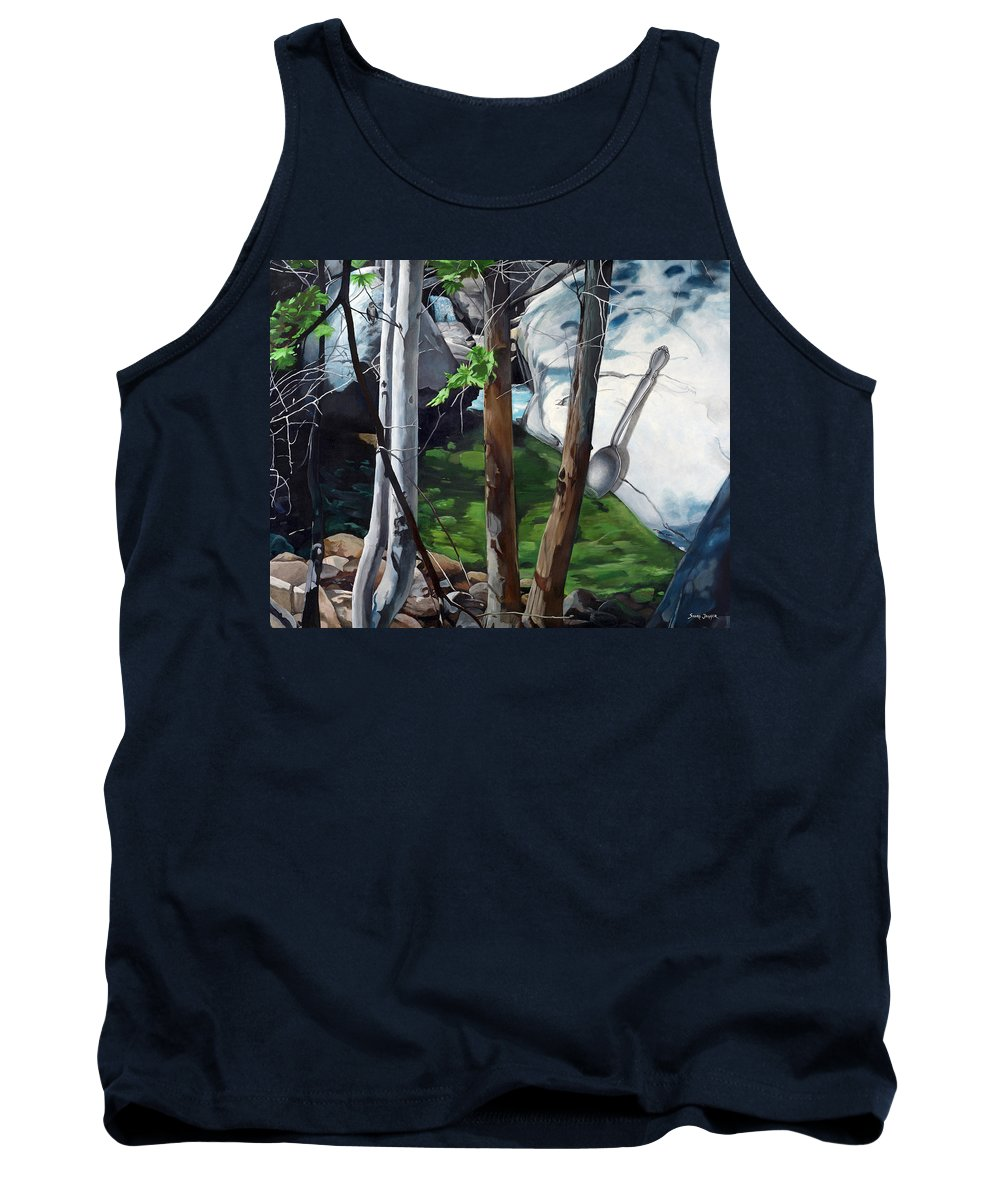 Landscape Tank Top featuring the painting A Taste of Nature by Snake Jagger