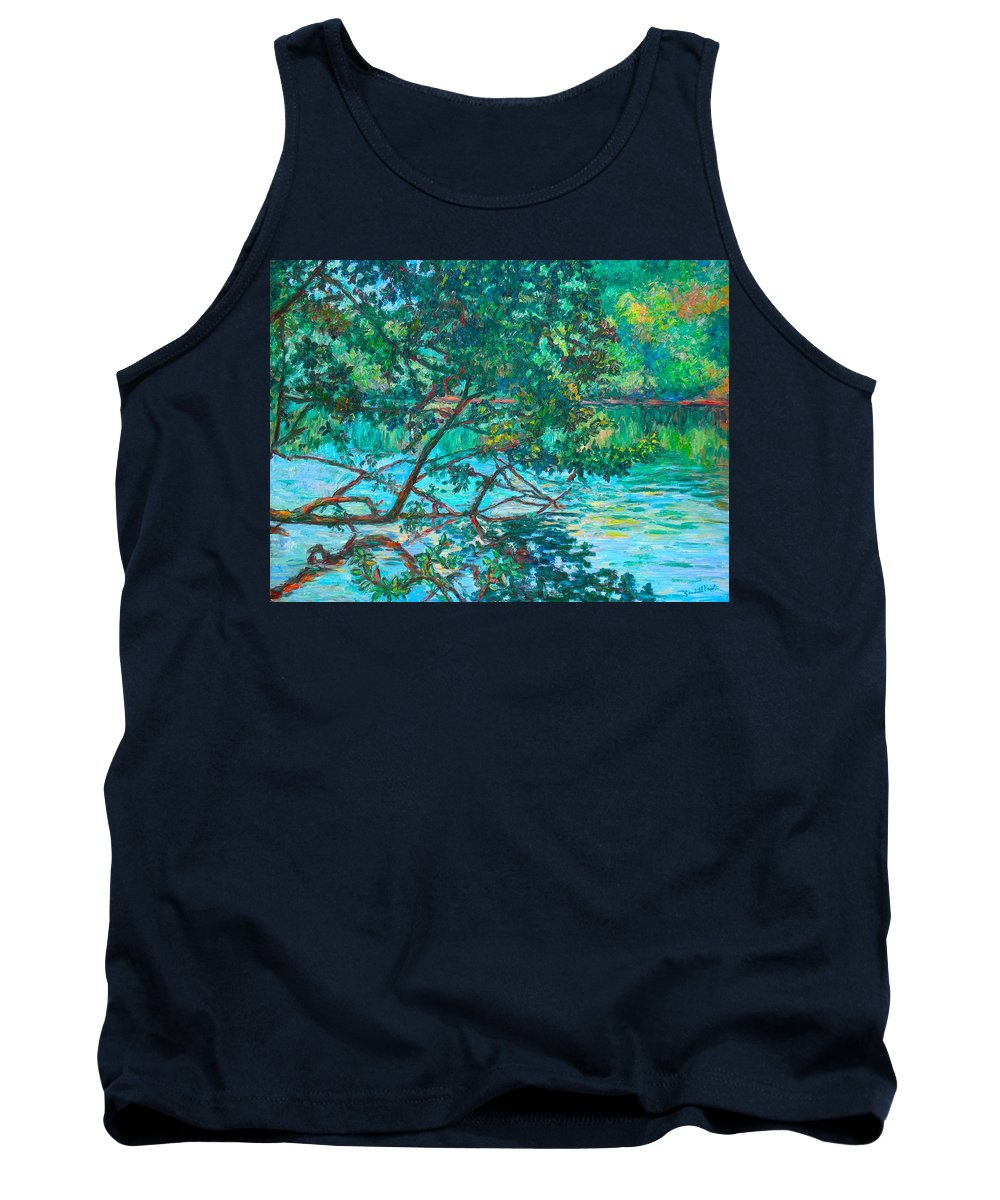 Landscape Tank Top featuring the painting Bisset Park by Kendall Kessler