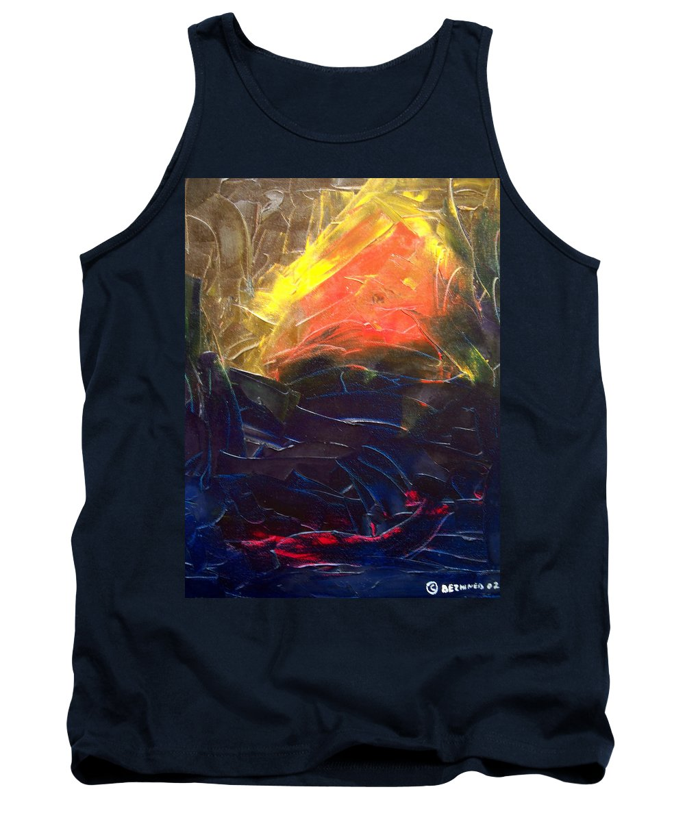 Duck Tank Top featuring the painting Forest .Part1 by Sergey Bezhinets