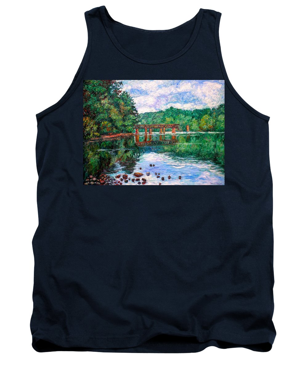 Landscape Tank Top featuring the painting New River Trestle by Kendall Kessler
