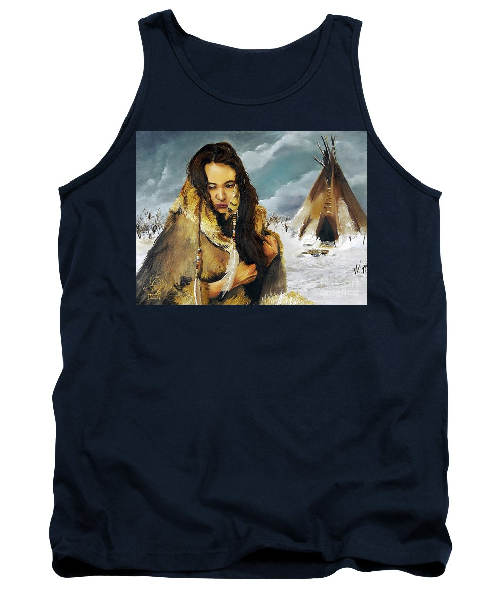 Southwest Art Tank Top featuring the painting Solitude by J W Baker