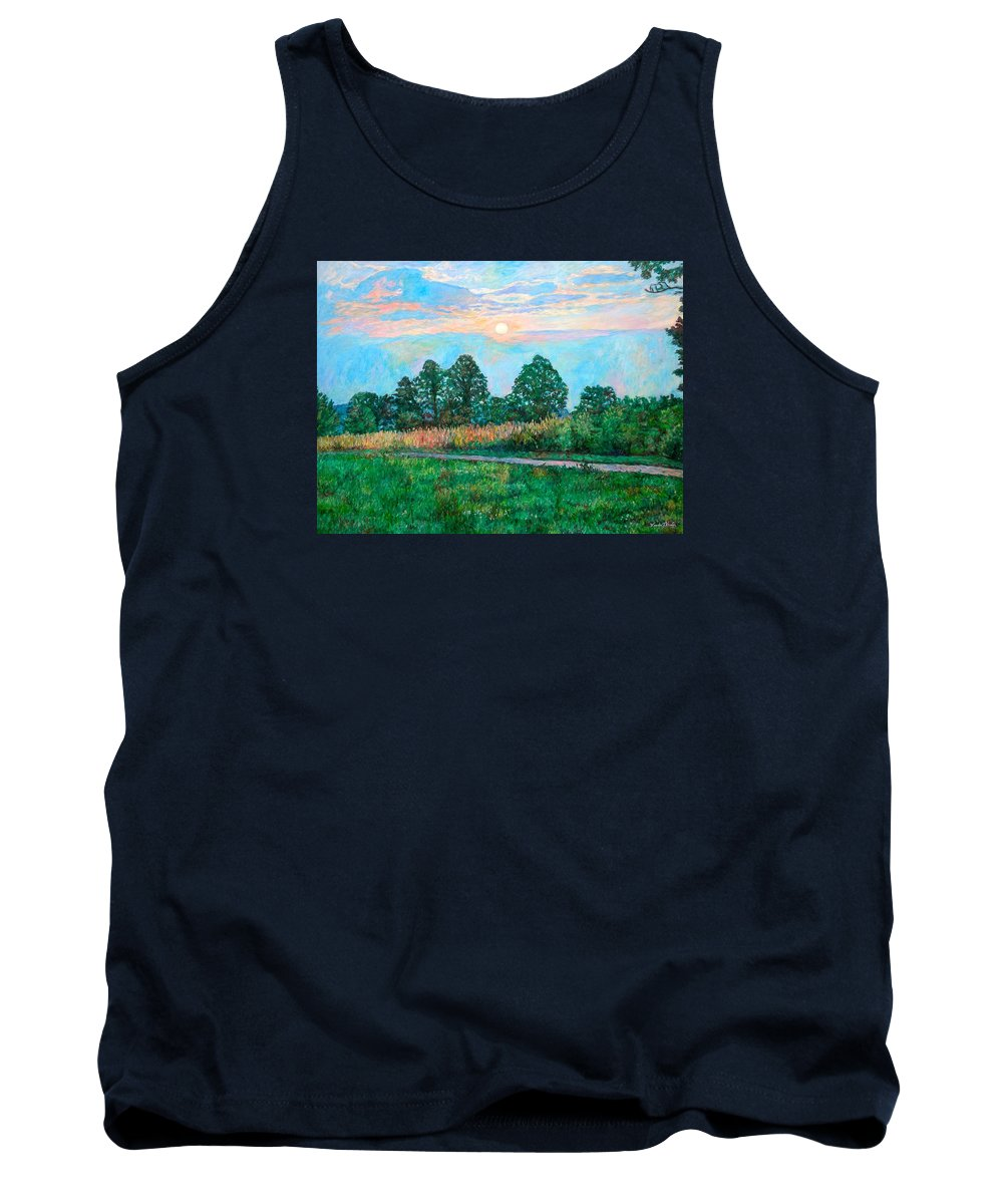 Kendall Kessler Tank Top featuring the painting Sunset Near Fancy Gap by Kendall Kessler