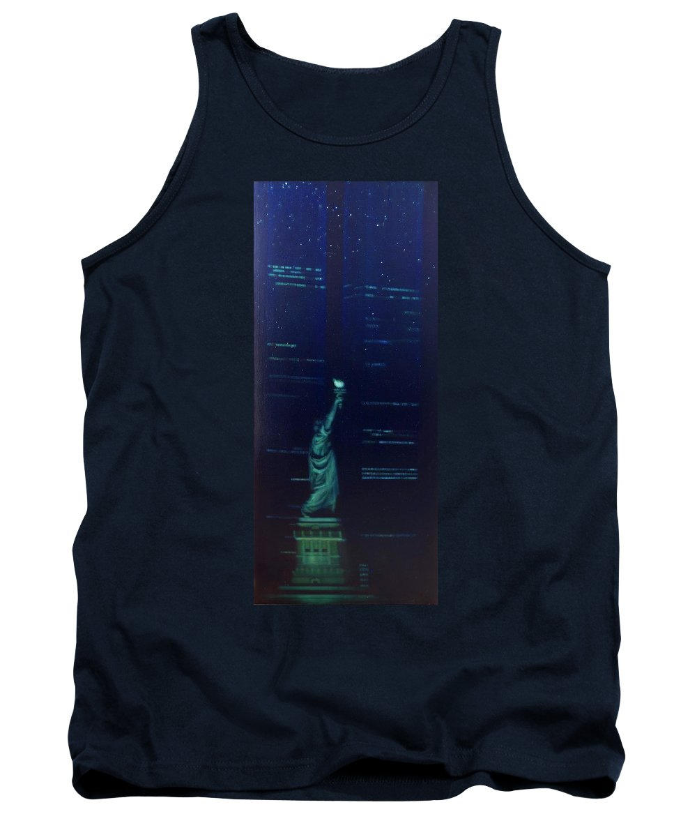 Realism Tank Top featuring the painting The Ascent Of Man by Sean Connolly