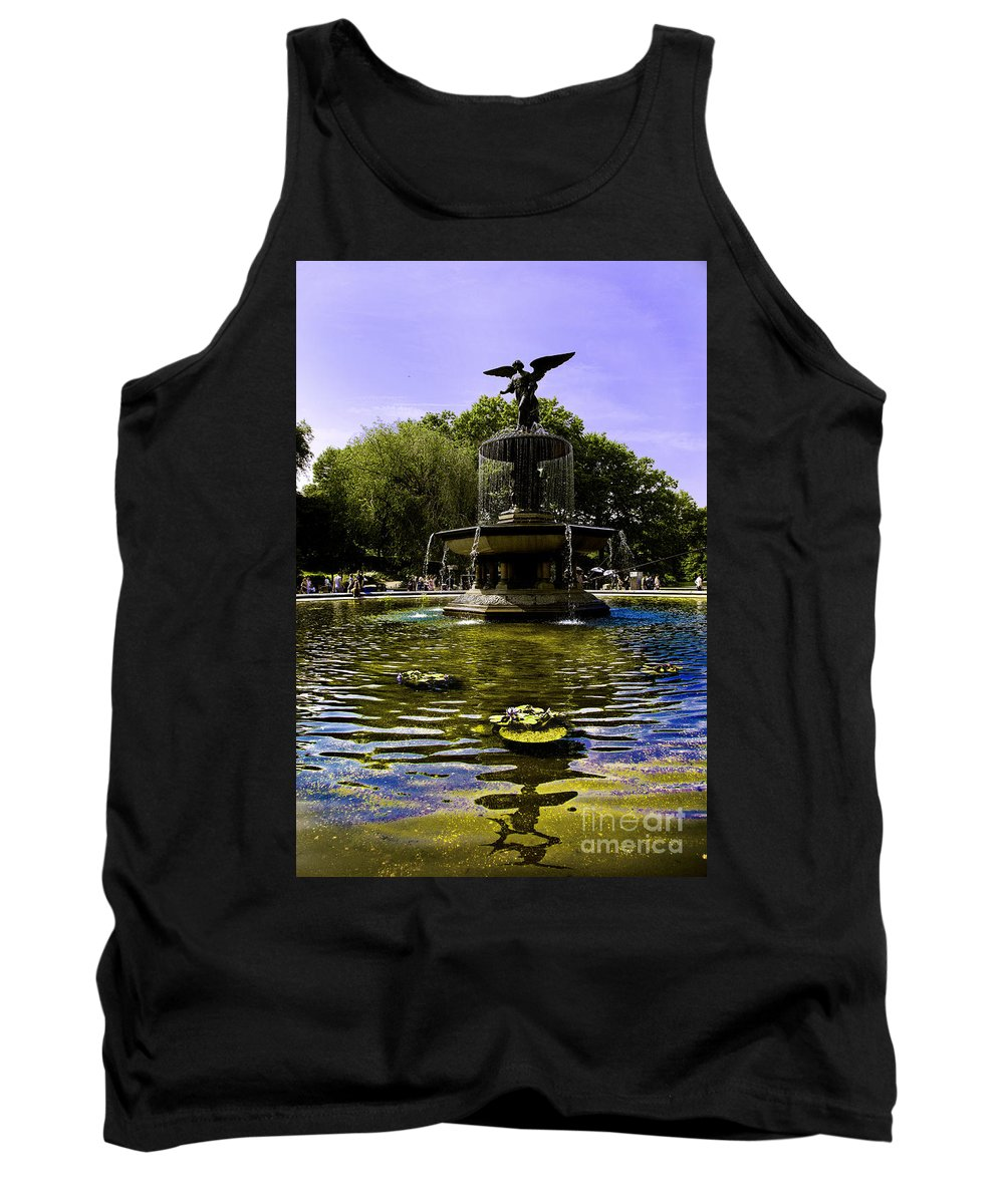 Bethesda Fountain Tank Top featuring the photograph Bethesda Fountain - Central Park by Madeline Ellis