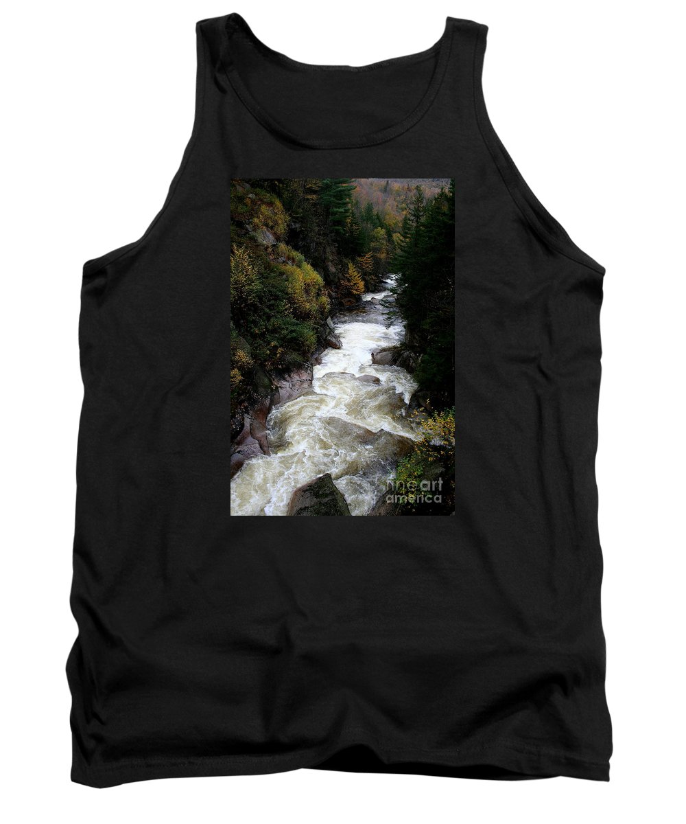 Franconia Notch Tank Top featuring the photograph Pemigewasset River White Mountains by Christiane Schulze Art And Photography