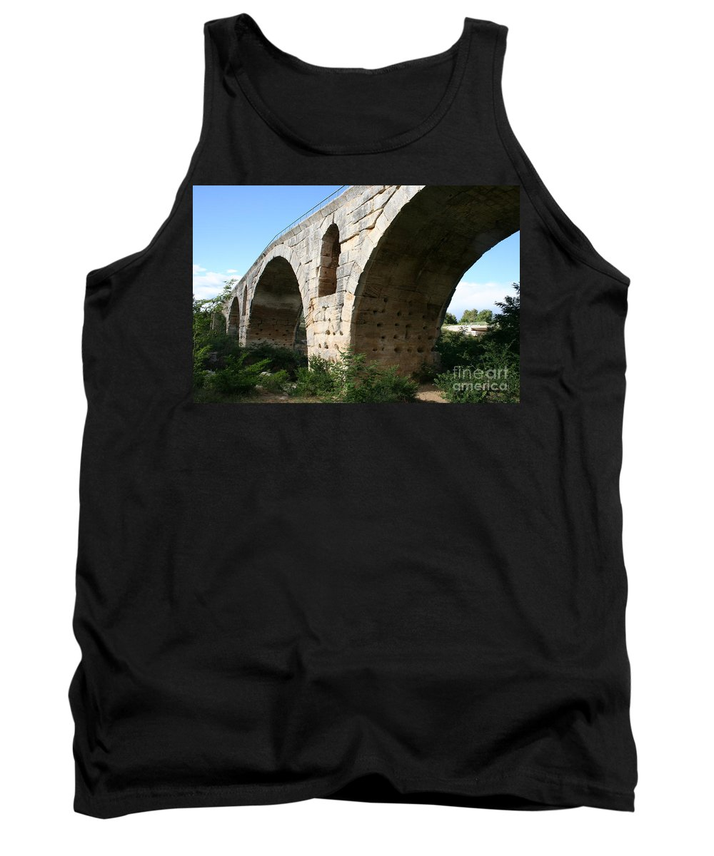 Roman Stonebridge Tank Top featuring the photograph Roman Bridge Pont St. Julien by Christiane Schulze Art And Photography