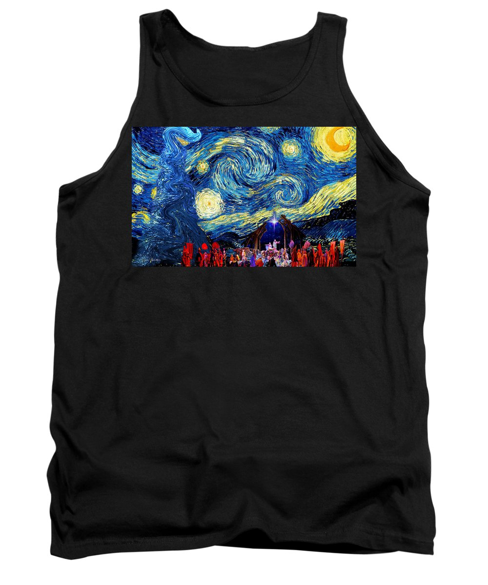 Starry Tank Top featuring the photograph Starry Night In Bethlehem by Sylvia Thornton
