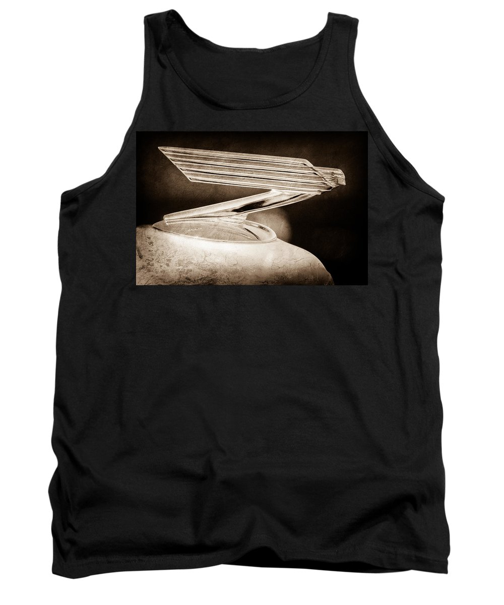1934 Chevrolet Hood Ornament Tank Top featuring the photograph 1934 Chevrolet Hood Ornament by Jill Reger