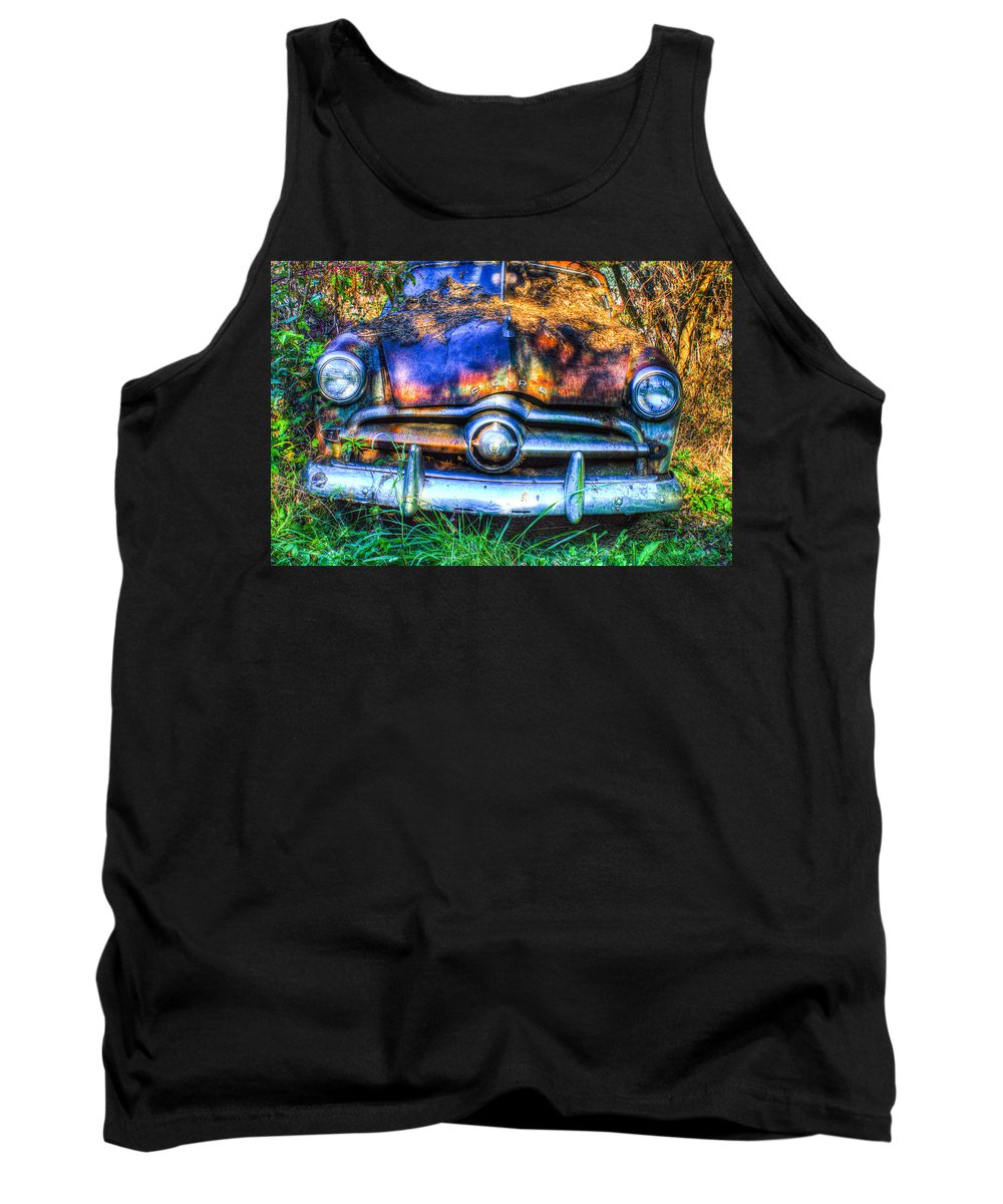 Tank Top featuring the photograph 1950 Ford To Be Reconditioned by Douglas Barnett