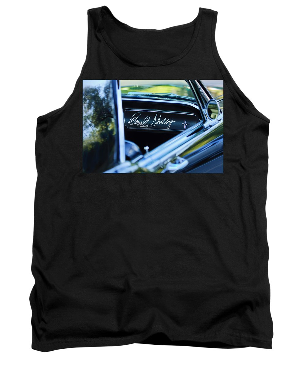 1965 Shelby Prototype Ford Mustang Tank Top featuring the photograph 1965 Shelby Prototype Ford Mustang Carroll Shelby Signature by Jill Reger