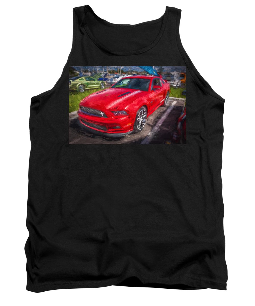 2013 Ford Mustang Tank Top featuring the photograph 2013 Ford Mustang Gt Cs Painted by Rich Franco