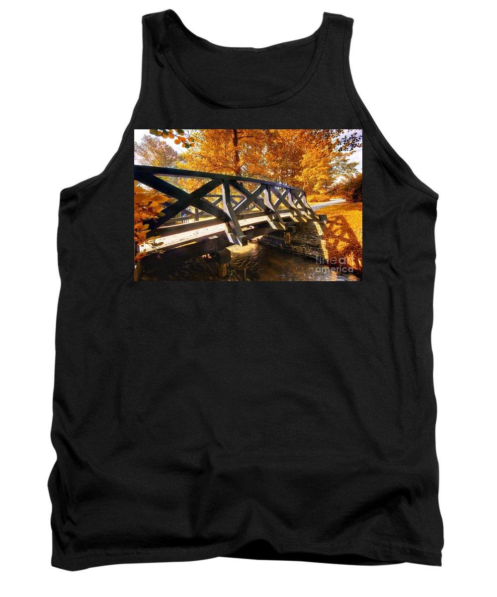 Autumn Tank Top featuring the photograph Autumn Park by Michal Bednarek