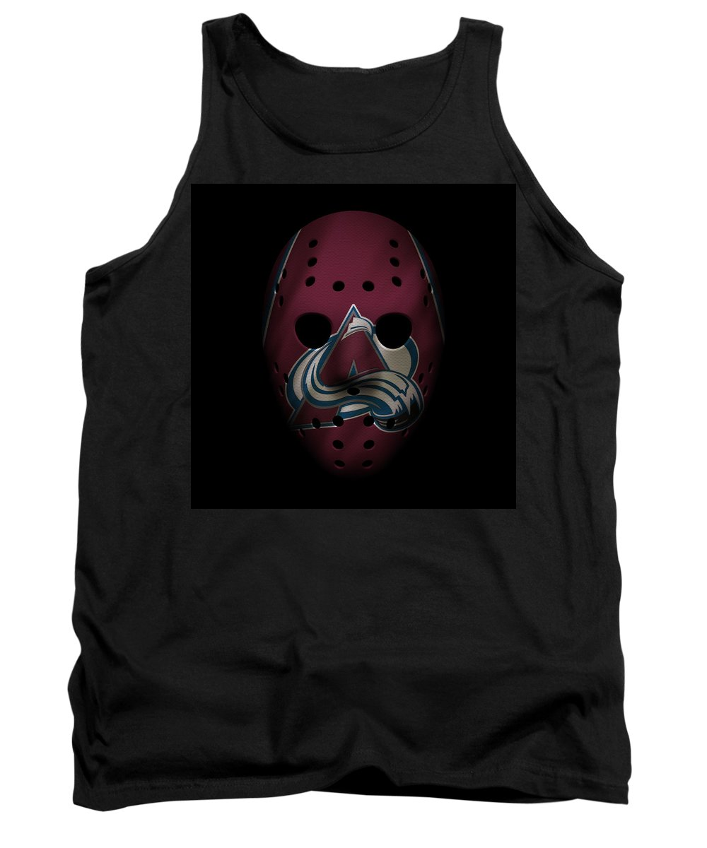 Avalanche Tank Top featuring the photograph Avalanche Jersey Mask by Joe Hamilton