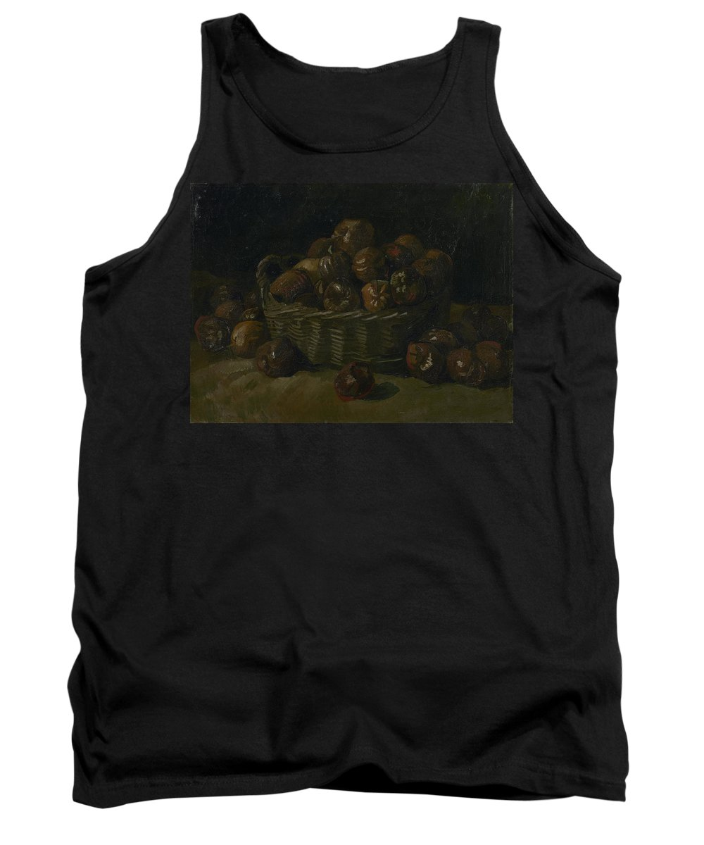 Vincent Van Gogh Tank Top featuring the painting Basket Of Apples by Vincent Van Gogh