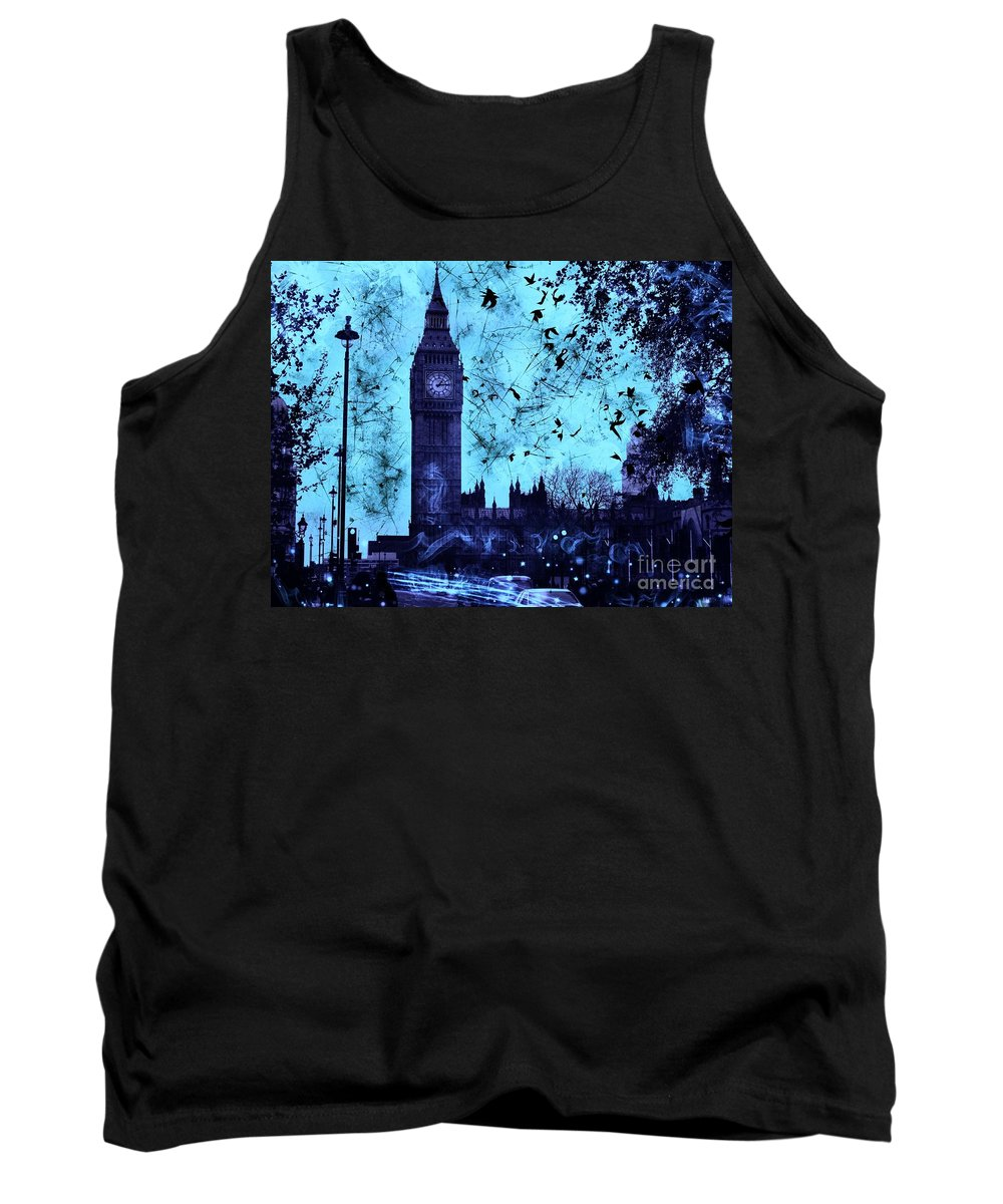 Big Ben Tank Top featuring the digital art Big Ben by Marina McLain