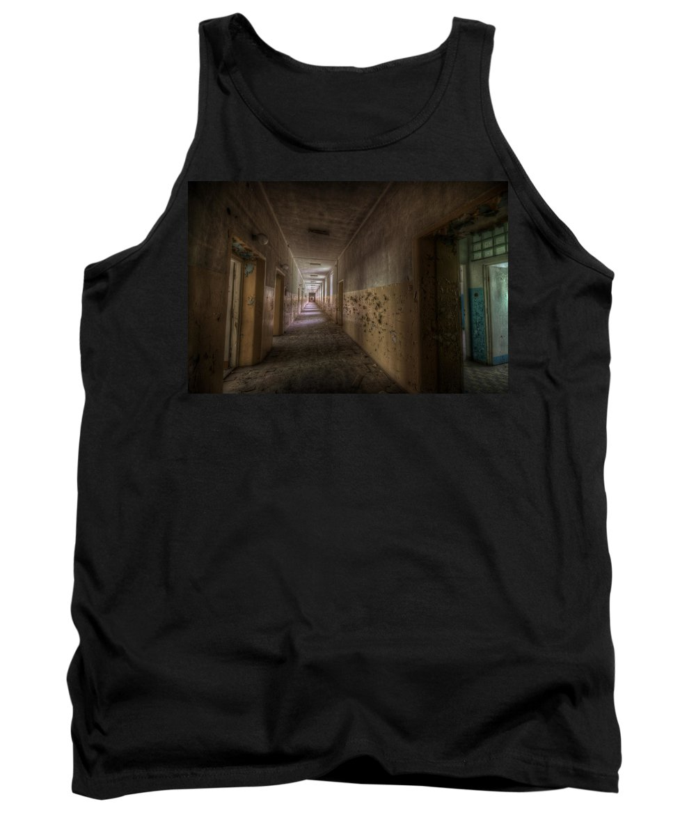 Soviet Tank Top featuring the digital art Blue Room by Nathan Wright