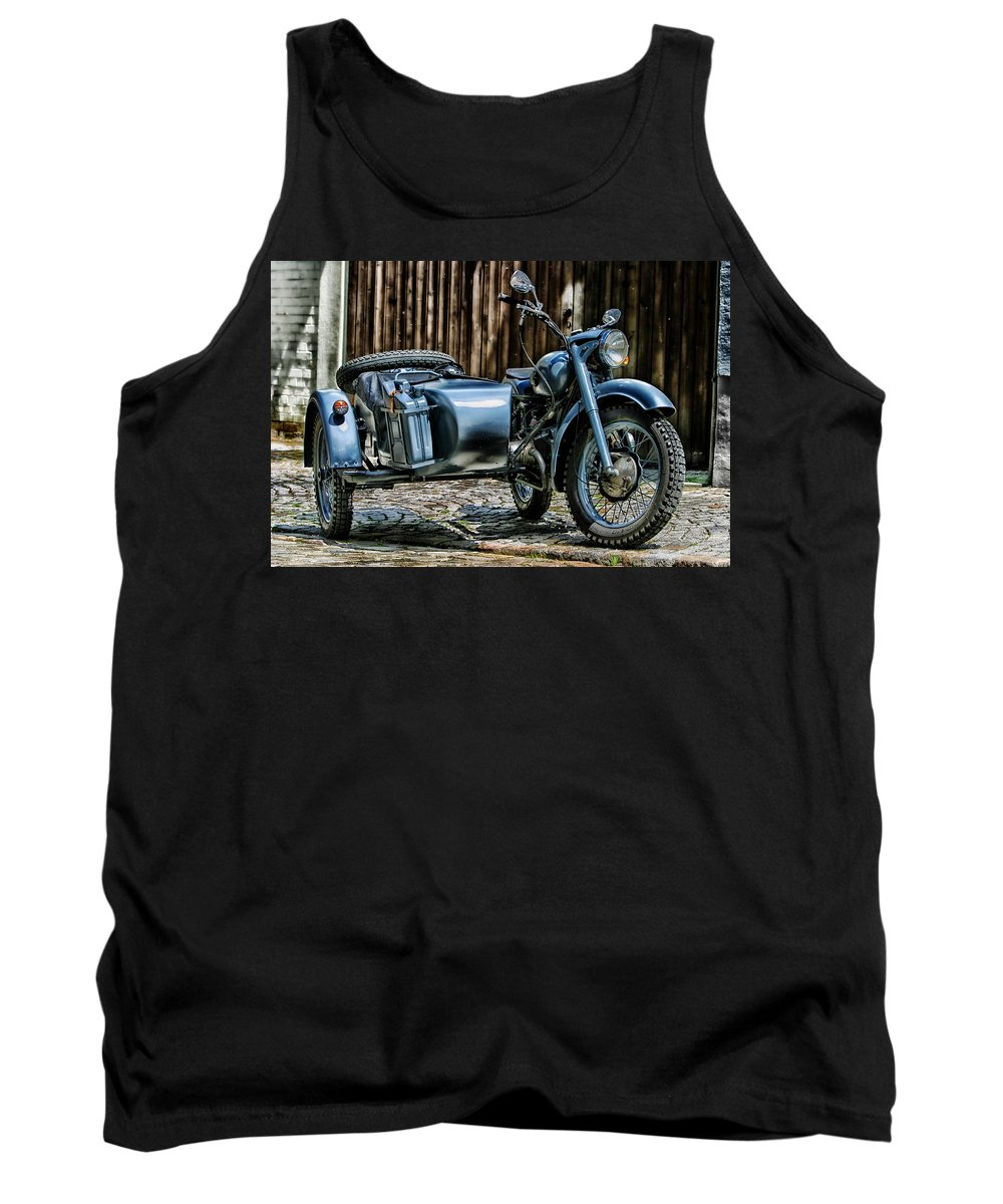 Bmw 500 Tank Top featuring the photograph Bmw 500 Sidecar by Pixabay