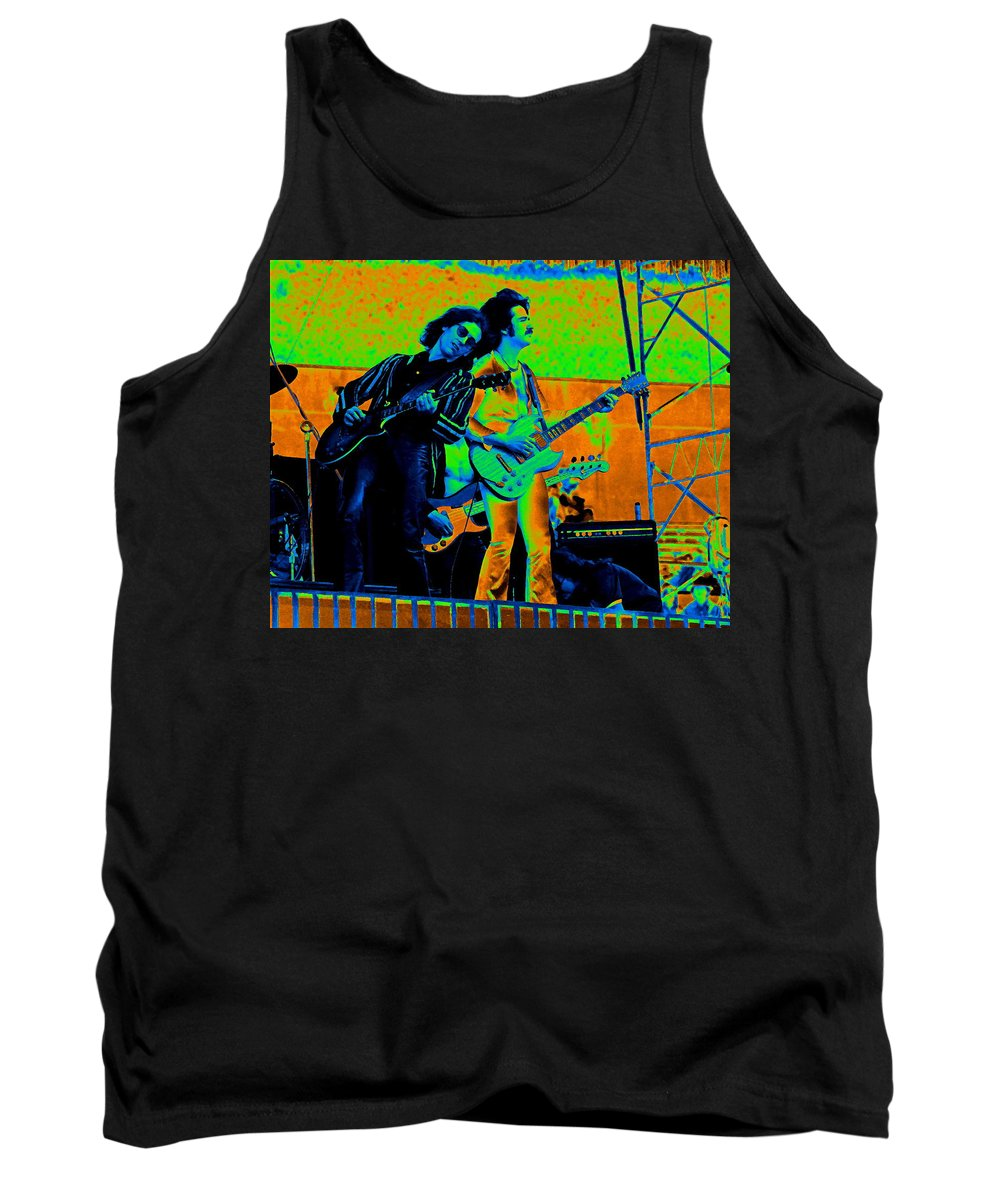 Blue Oyster Cult Tank Top featuring the photograph Boc #20 Enhanced In Cosmicolors by Ben Upham