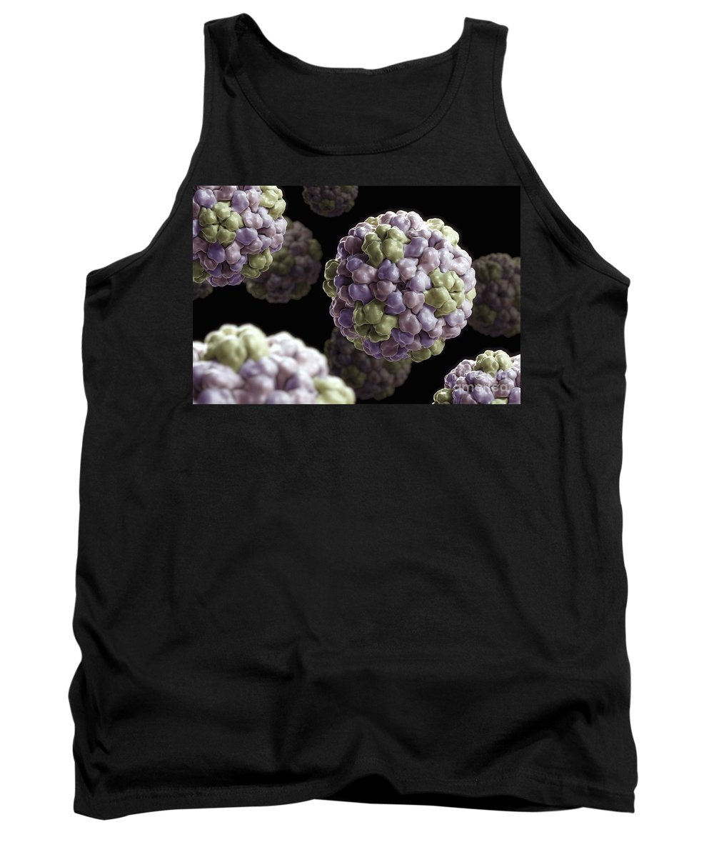 Bromoviridae Tank Top featuring the photograph Brome Mosaic Virus by Science Picture Co