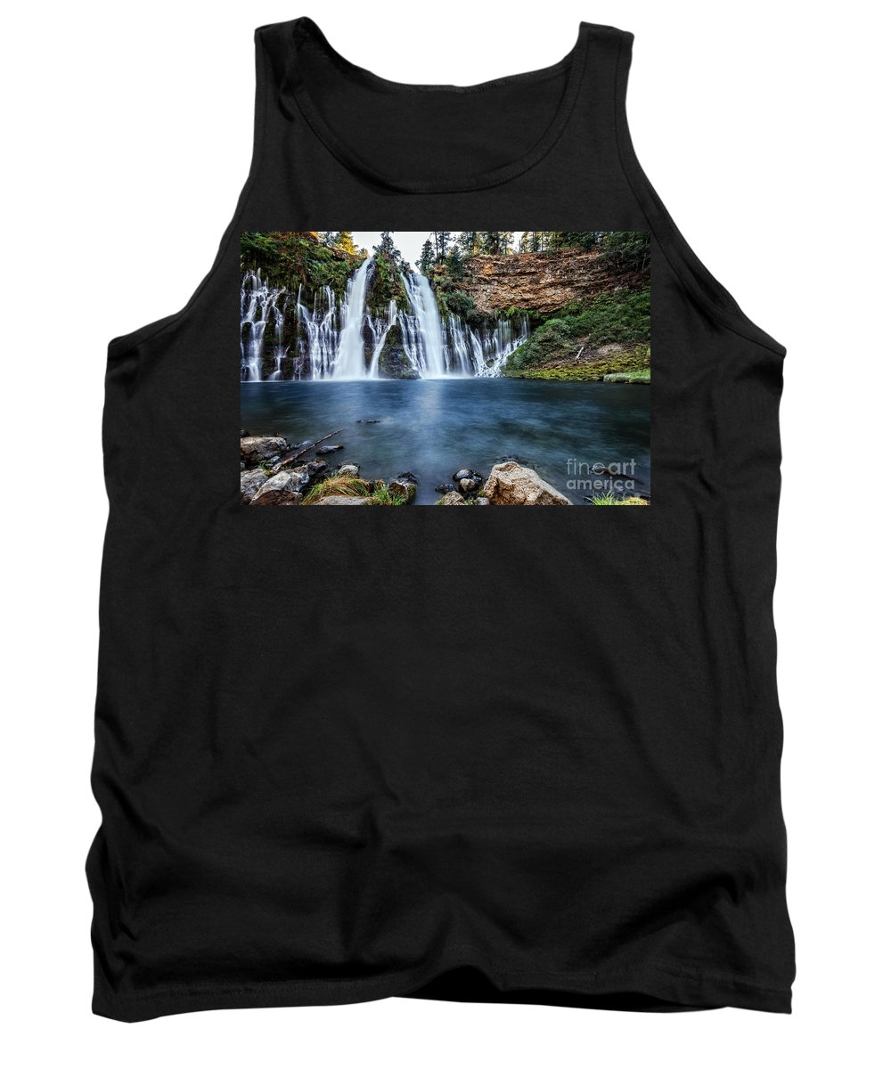 Burney Tank Top featuring the photograph Burney Falls by Dianne Phelps