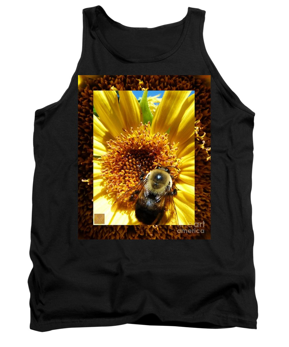 Bumble Bees Tank Top featuring the photograph 1 Busy Bumble L by Dale Crum