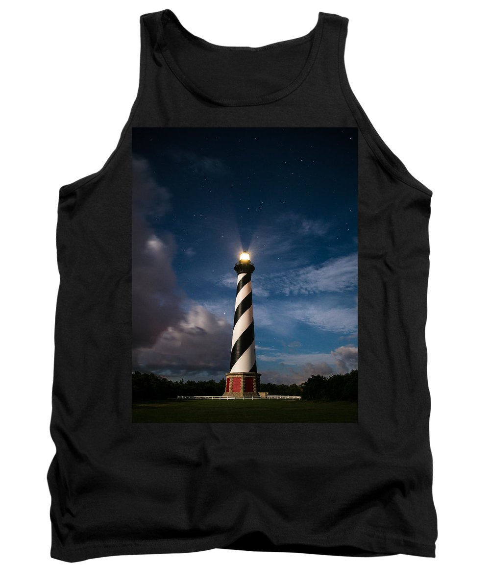 Cape Hatteras Tank Top featuring the photograph By The Light Of The Moon by Stacy Abbott