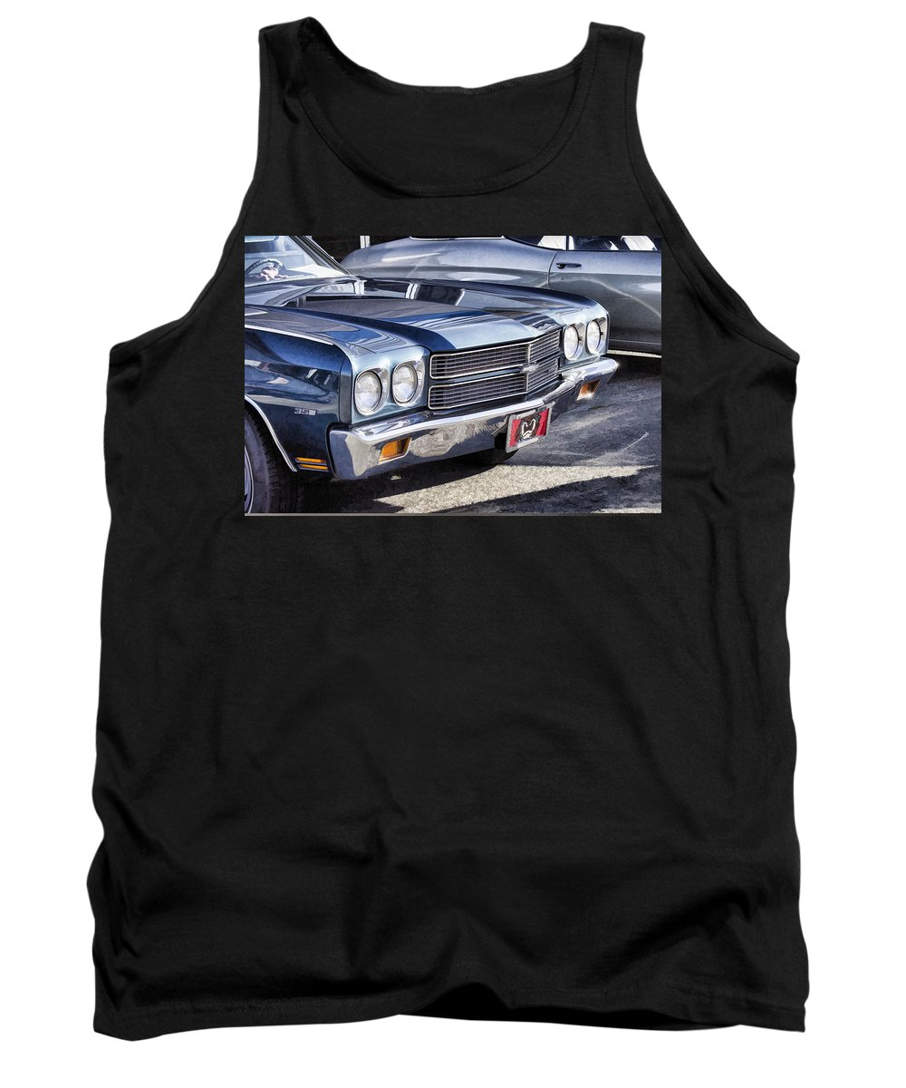 Chevy Malibu Tank Top featuring the photograph Chevy Malibu by Cathy Anderson