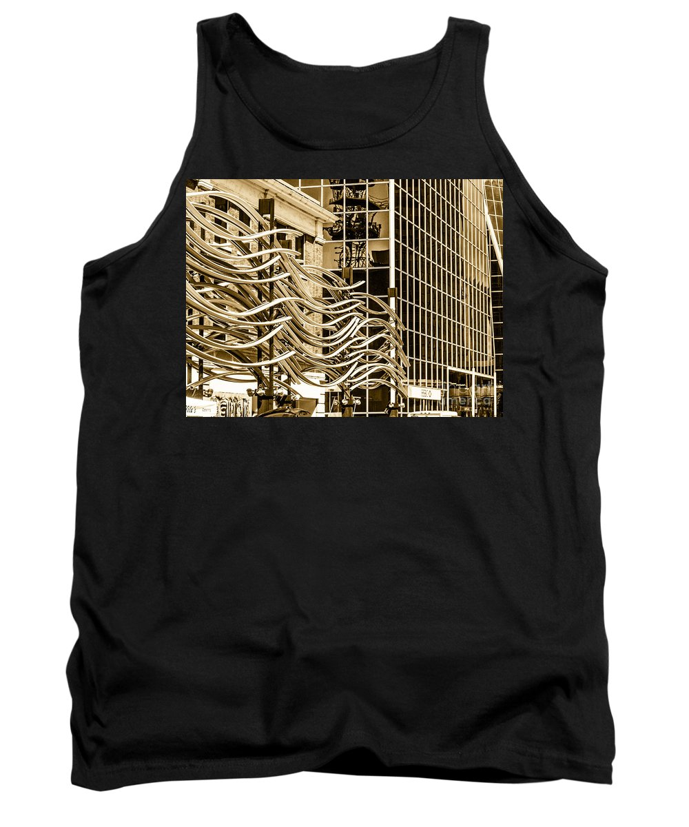 Digital Colour Tank Top featuring the photograph City Center -27 by David Fabian