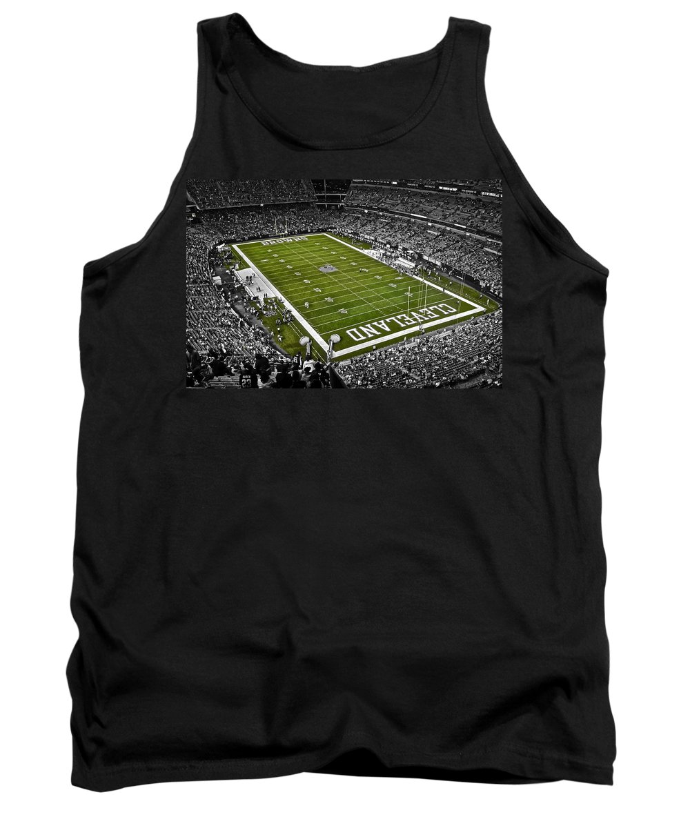 Browns Tank Top featuring the photograph Cleveland Browns Stadium by Frozen in Time Fine Art Photography