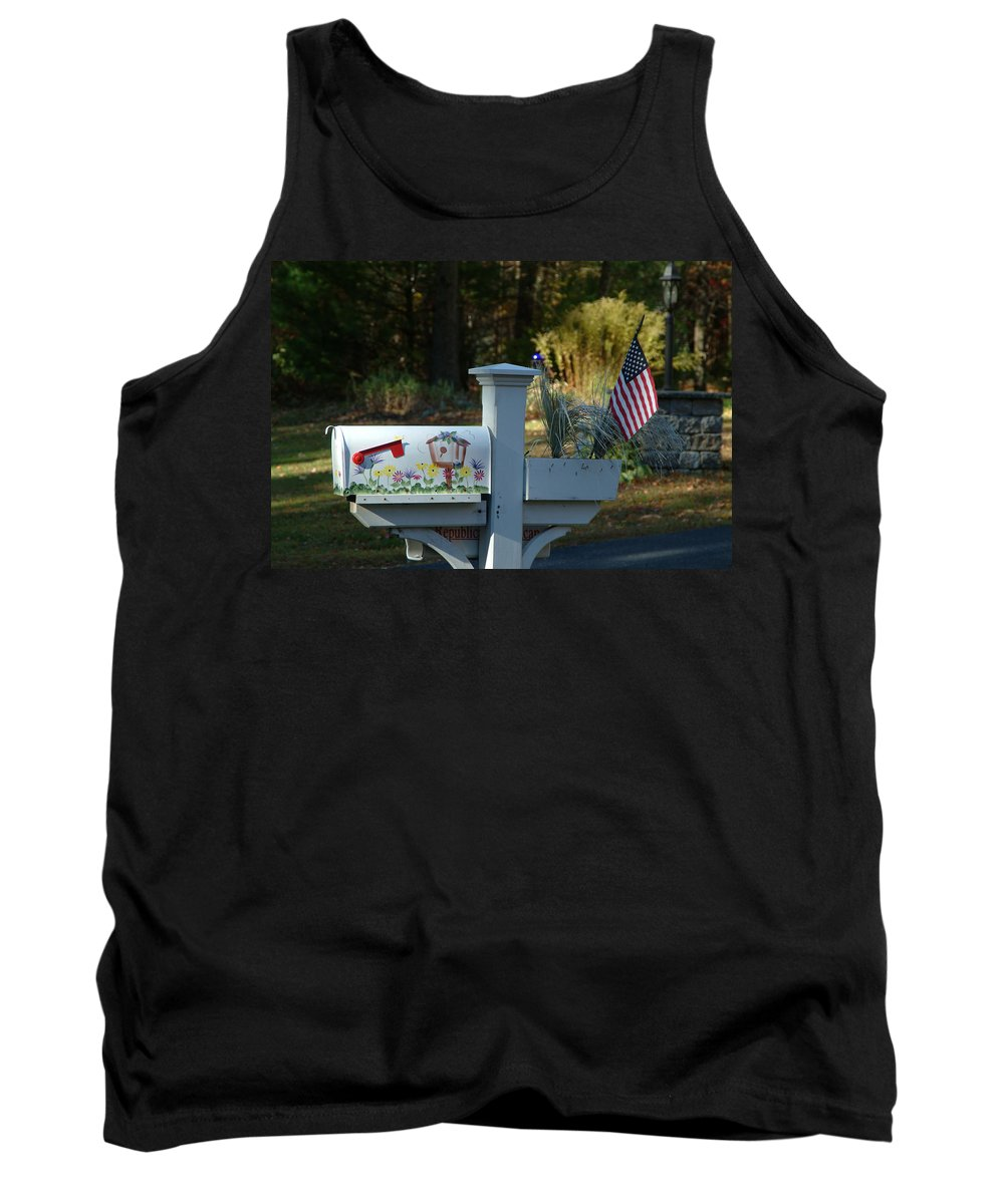 Countryside Tank Top featuring the photograph Countryside Mailbox #9 by Robert DeFosses