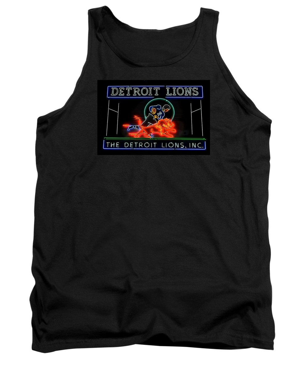 Detroit Tank Top featuring the photograph Detroit Lions Football by Frozen in Time Fine Art Photography