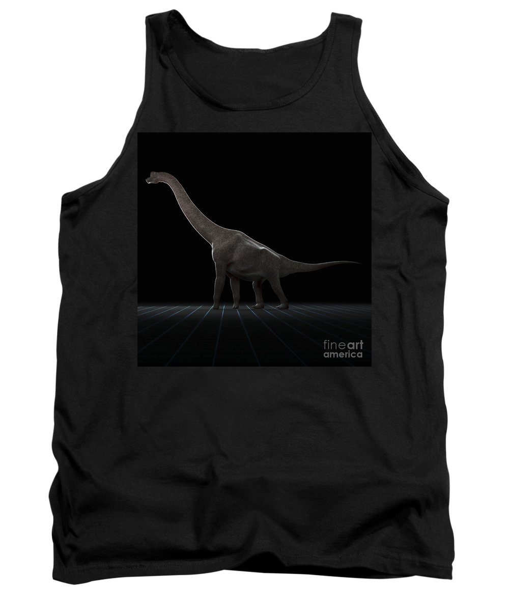 Evolve Tank Top featuring the photograph Dinosaur Brachiosaurus by Science Picture Co