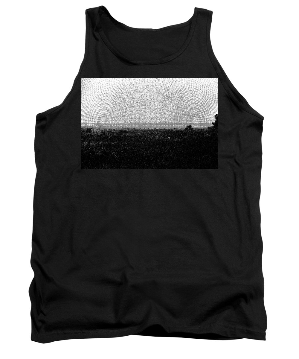 Bird Sanctuary Tank Top featuring the digital art Elephant Grass And View Of Bridge by Ashish Agarwal