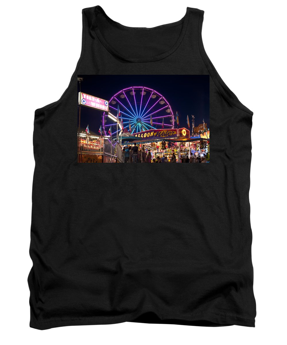 Americana Tank Top featuring the photograph Ferris Wheel Rides And Games by Jim Corwin
