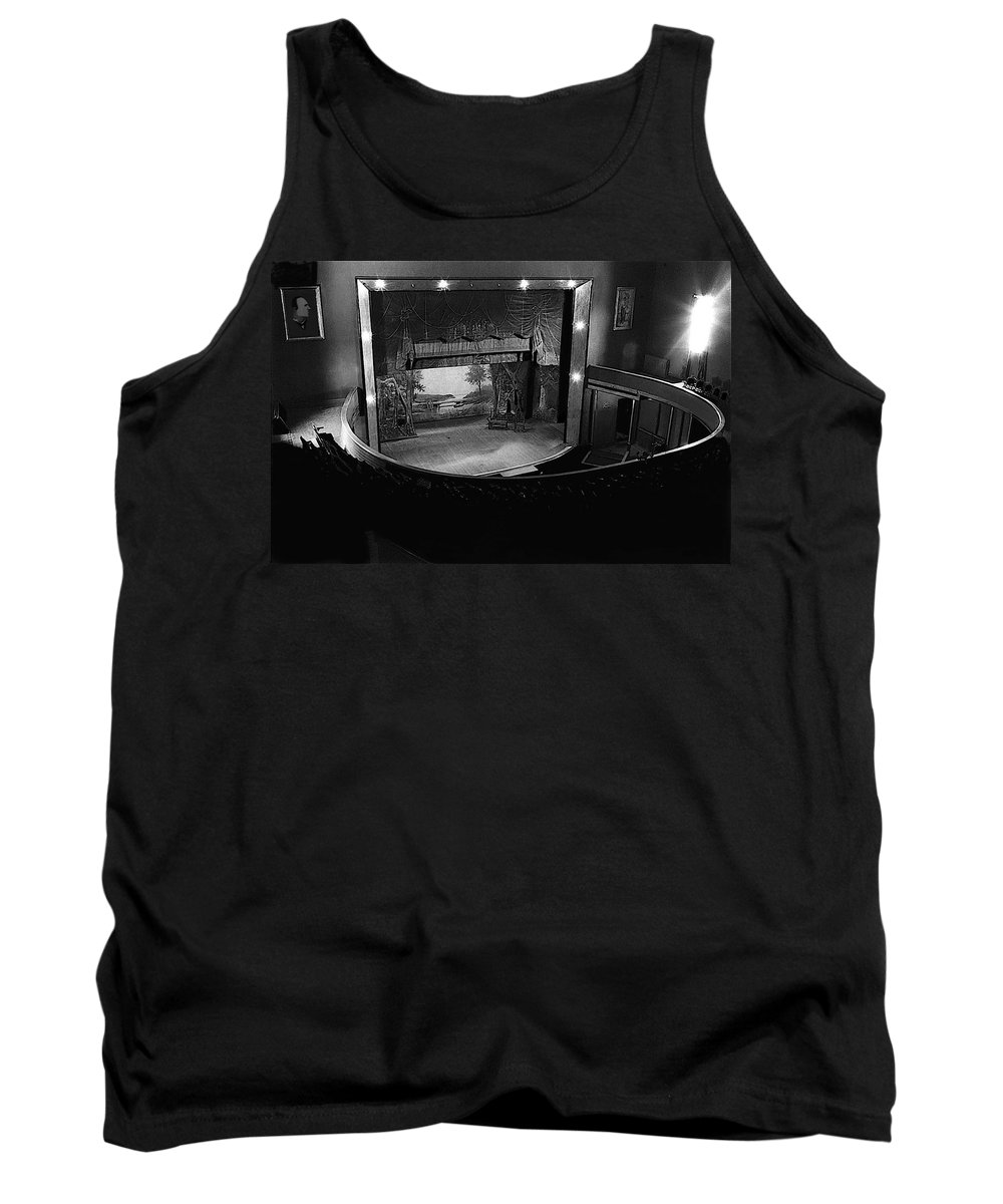 Tank Top featuring the photograph Film Homage Charles Foster Kane Orson Welles Citizen Kane 1941 Tabor Opera House 1 Leadville Co 1971 by David Lee Guss