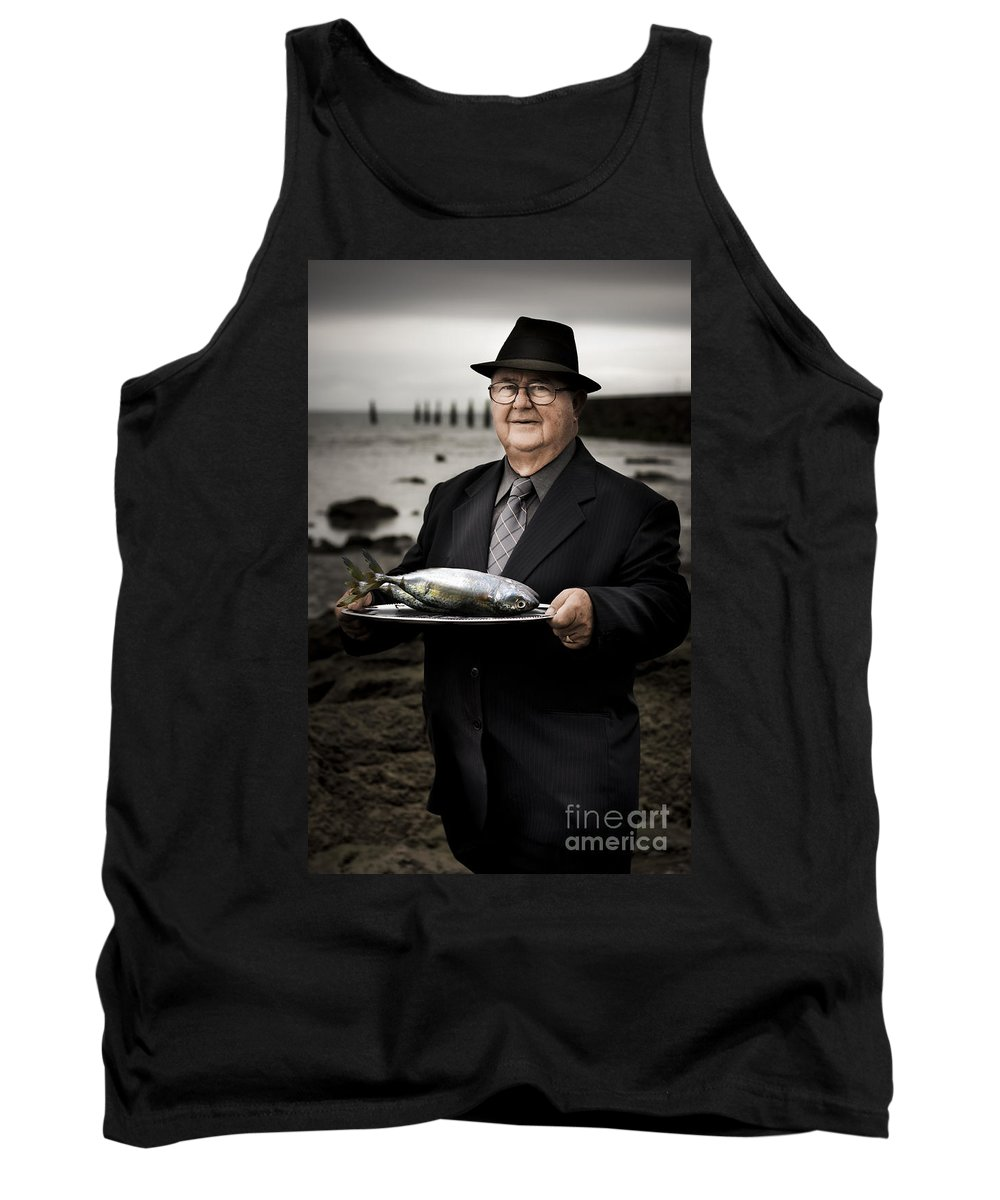 Male Tank Top featuring the photograph Fishing And Consumption by Jorgo Photography - Wall Art Gallery