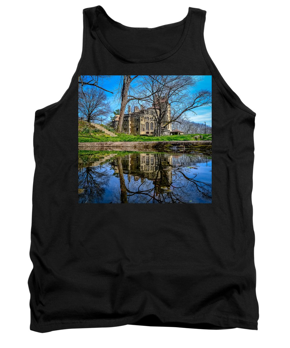 Fonthill Reflections Tank Top featuring the photograph Fonthill Reflections by Michael Brooks