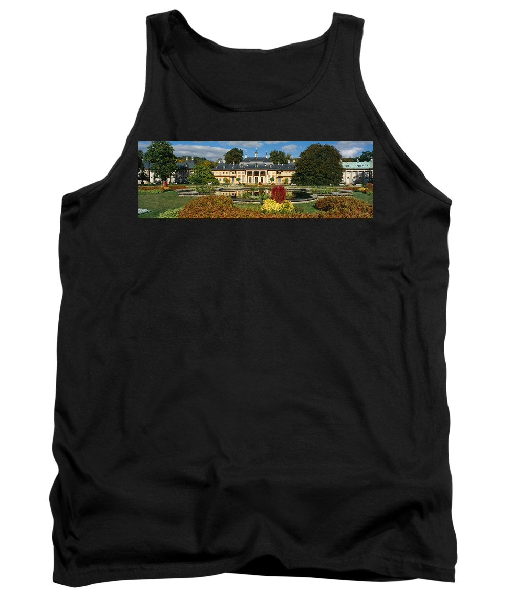 Photography Tank Top featuring the photograph Formal Garden In Front Of A Castle by Panoramic Images