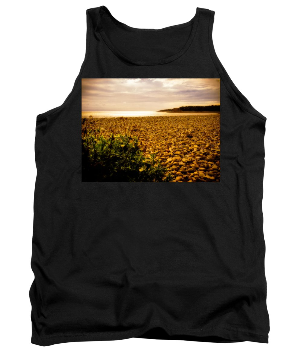 Barry Tank Top featuring the photograph Golden Sunset by Mark Llewellyn