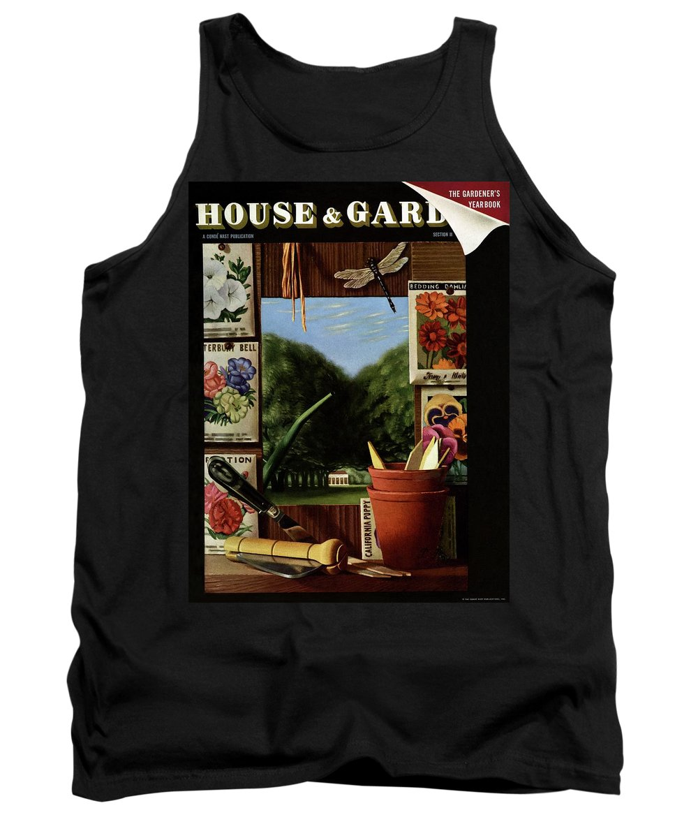 House And Garden Tank Top featuring the photograph House And Garden Cover by Pierre Roy